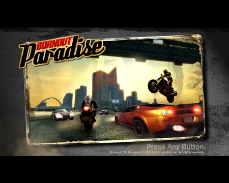 Burnout Paradise Title Screen